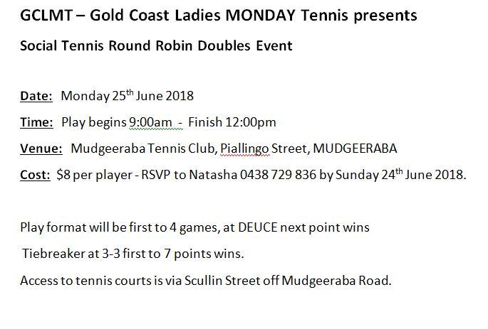 Monday tennis